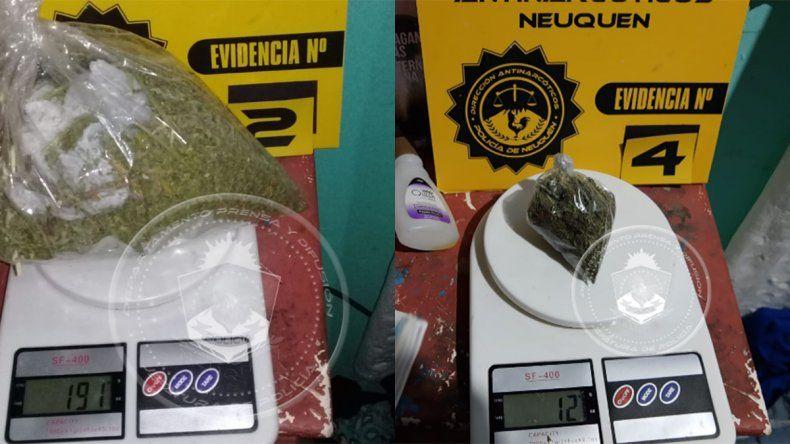 Con un megaoperativo, secuestraron más de 200 gramos de marihuana