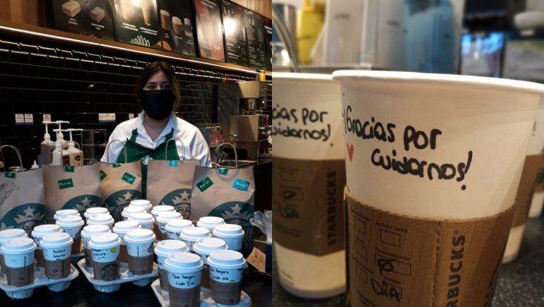 Cadena de cafetería le llevó el desayuno a médicos del Castro Rendón