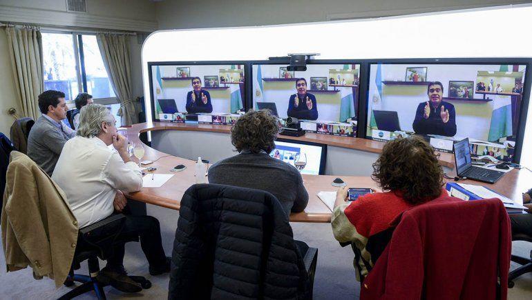Fernández habló con los gobernadores de las zonas más afectadas