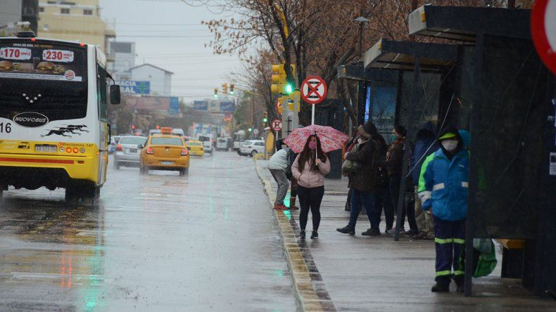 Hasta media tarde habían caído 28milímetros de agua en Neuquén