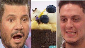 bake off: tinelli pidio una insolita torta de fernet, lentejas y albahaca