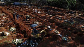 brasil registro el record de 1262 muertes en un dia