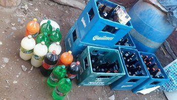 venta ilegal: secuestran bebidas alcoholicas en una vivienda