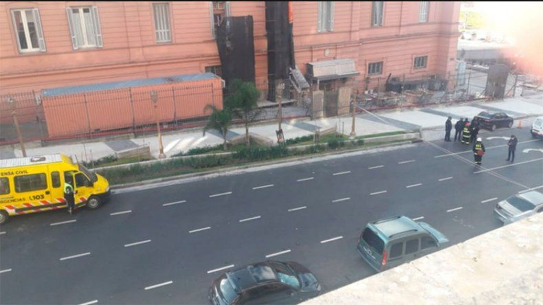 Evacuaron el Palacio de Hacienda por una pérdida de gas