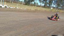 Facundo Ardusso volvió a girar en un karting de tierra después de no hacerlo desde la temporada 2005.