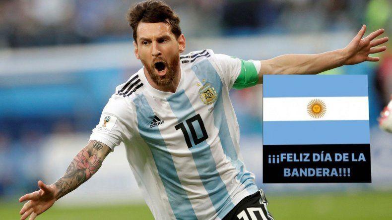 El saludo de Messi, nuestra bandera futbolística, por el día patrio