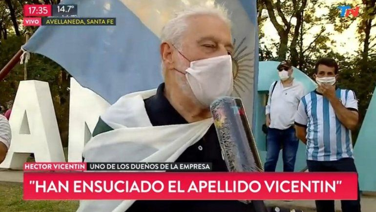Vicentin: La gente siente que le están robando la libertad