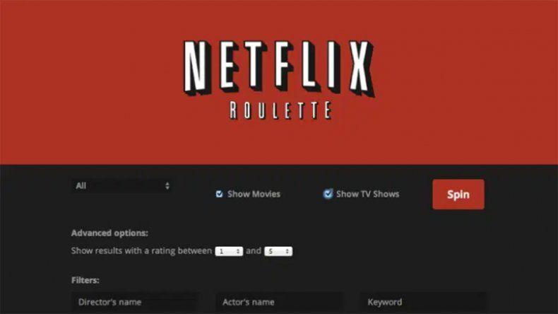 Netflix Roulette, una herramienta para los indecisos a la hora de ver contenidos