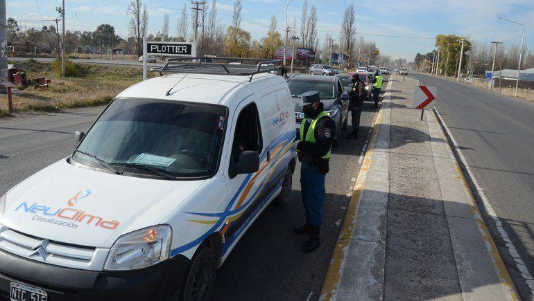 Plottier y Centenario: nuevos controles rechazaron a cientos de autos