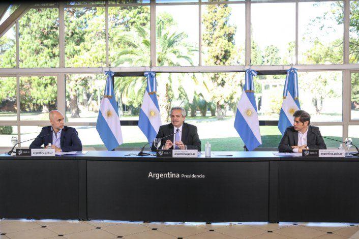 El presidente Alberto Fernández emitió un mensaje grabado junto a Axel Kicillof y Horacio Rodríguez Larreta.