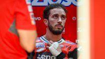 Andrea Doviziosofue sometido a una intervención quirúrgica y ya se recupera de la fractura que sufrió en la clavícula izquierda el domingo pasado en Italia.