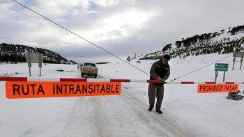 nevadas: el estado actualizado de las rutas de la provincia