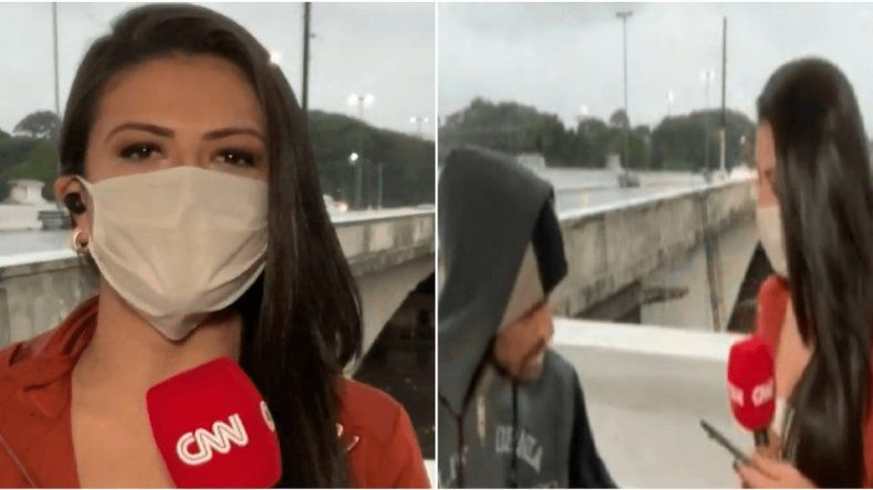 Periodista hacía un móvil y fue asaltada en vivo
