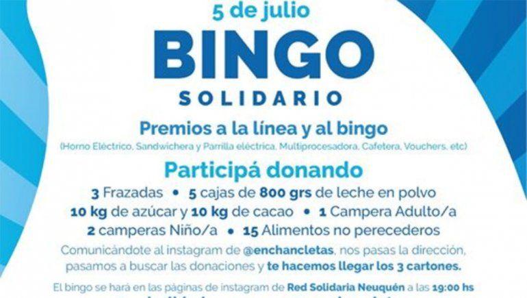 Se viene un bingo solidario para los más necesitados
