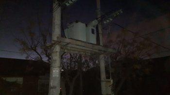 un ave provoco que el barrio huiliches se quedara sin luz