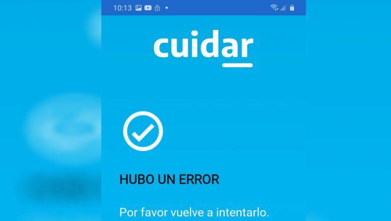 Continúan las fallas en la app Cuidar y las autoridades recomiendan tramitar permisos por la web