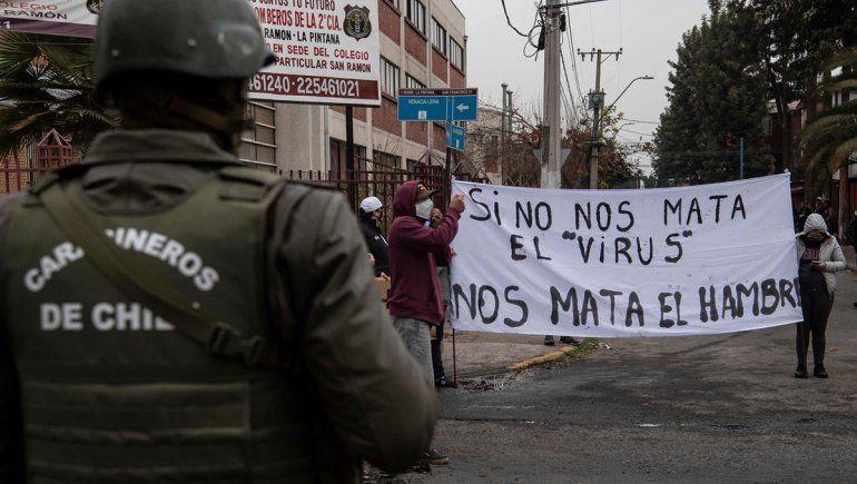 Un muerto en una marcha contra Piñera