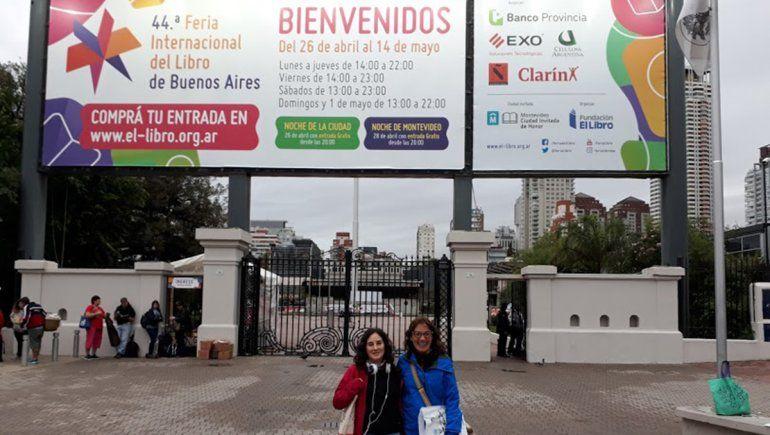 Edición 44 de la Feria del Libro en donde Majo fue con su hija.