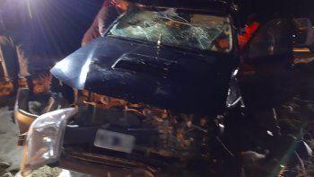 El cruce de un ciervo provocó un terrible choque en Junín
