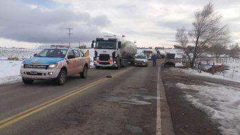 El temporal de nieve complica el tránsito en las rutas