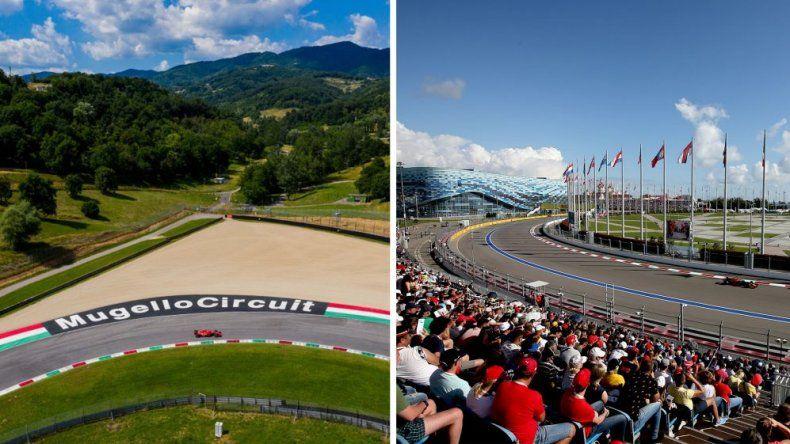 Mugello y Sochi se aseguraron un lugar dentro del nuevo calendario 2020 de la Fórmula 1.