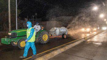 los operativos de desinfeccion ya recorrieron 400 kilometros