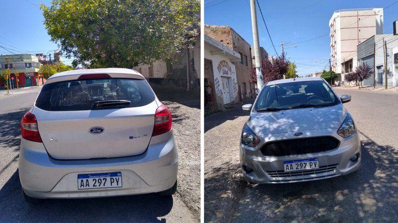 Le robaron el auto estacionado en la puerta de su casa