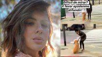 la china suarez, furiosa con una mujer que le pego a su perro en plena calle