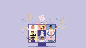 las quinceaneras se encontraron en una fiesta virtual