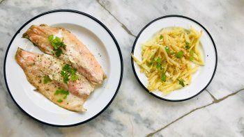 receta: trucha arcoiris y papas fritas