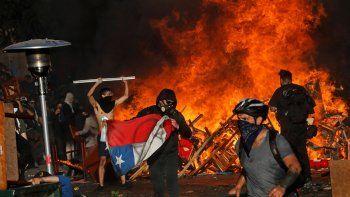 la violencia volvio a las calles chilenas