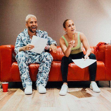 Jennifer López y Maluma muy juntitos en Miami ¿Nuevo romance?