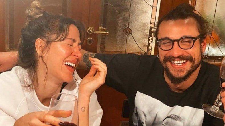 Jimena Barón y Daniel Osvaldo en cuarentena.