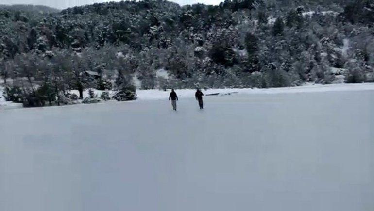 San Martín:  jugaron con la muerte en una laguna congelada