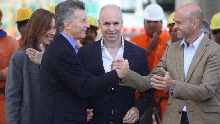 Guillermo Dietrich y Mauricio Macri.