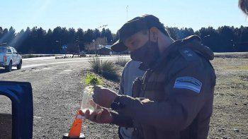 operativo secuestro marihuana en ruta 40