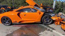 ex piloto de formula 1 destrozo un auto valuado en un millon de euros