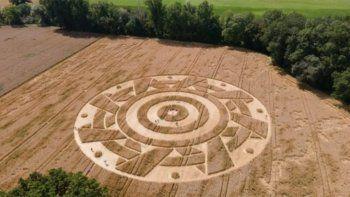 alemania: aparecen agroglifos en una plantacion de cereales