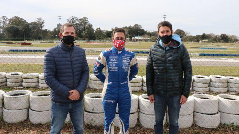 Christian Ledesma pudo volver a practicar automovilismo este sábado durante la primera jornada de pruebas en el kartódromo de Mar del Plata.