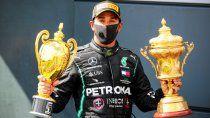 Casi se me para el corazón, manifestó Hamilton cuando hizo referencia al momento que sufrió la pinchadura de un neumático en el giro final.