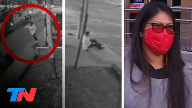 La esposa de la víctima habló tras el violento robo de los motochorros.