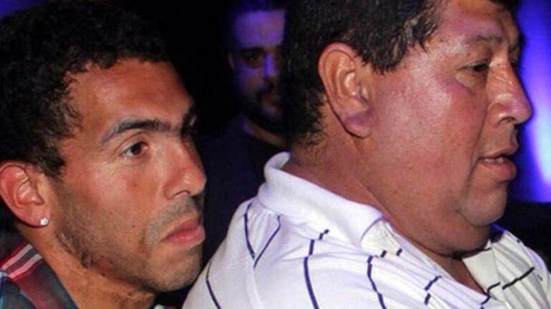Carlos Tevez y su papá
