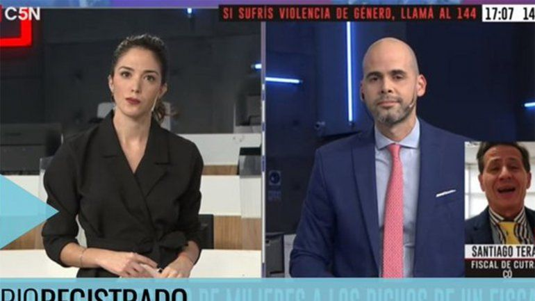El fiscal Terán violentó en vivo a una periodista y sumó repudio nacional