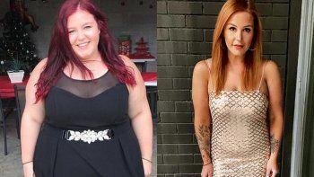 increible: dejo a su novio toxico y bajo mas de 76 kilos