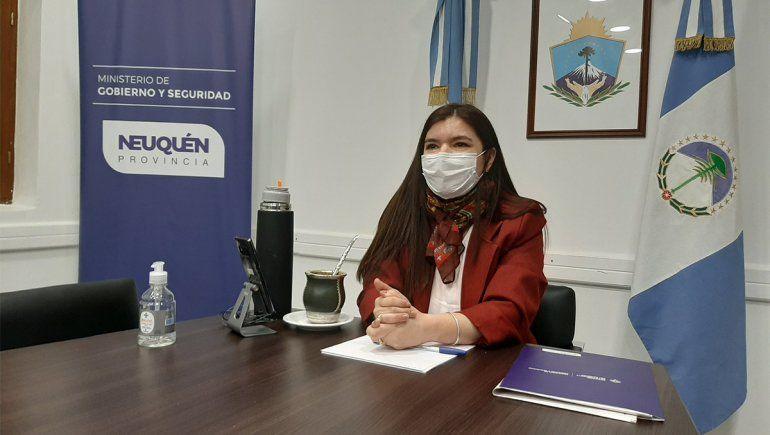 Vanina Merlo, ministra de Seguridad de Neuquén.