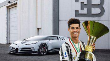 el nuevo capricho de cristiano ronaldo, se compro un auto bugatti de 8 millones de euros