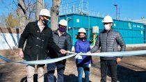gutierrez inauguro una planta de tratamientos de efluentes