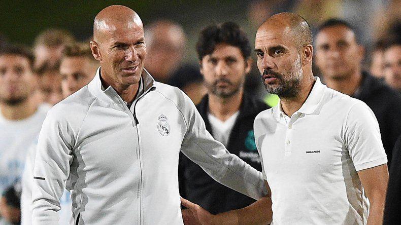 Guardiola, un ex Barcelona, le cortó sorprendente racha a Zidane