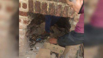 Entró a robar por la chimenea y quedó atascado