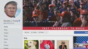 facebook elimino un mensaje de campana de trump por falso